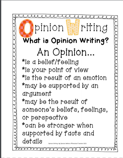 Opinion Writing | missgraysclassroom