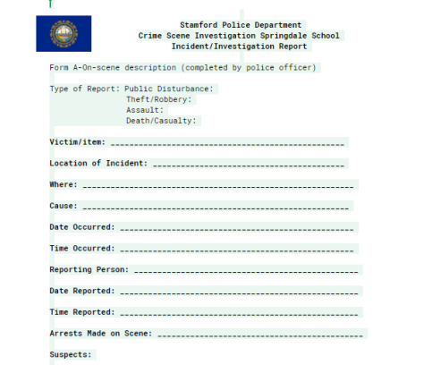 police report 1